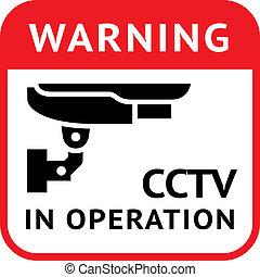 CCTV, pictogram security camera