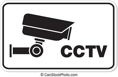 CCTV rectangle sign