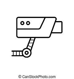 cctv security camera icon vector