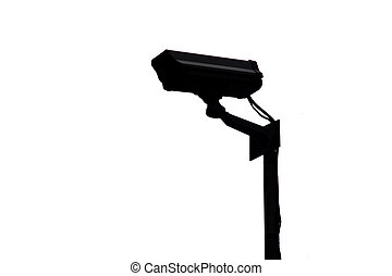 CCTV security camera in the Shadow. - System of CCTV...