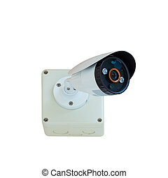 CCTV security camera isolate with clipping path - CCTV...