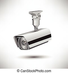 CCTV security camera on white background vector