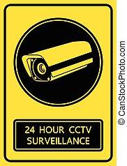 CCTV security camera sign vector