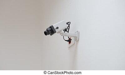 CCTV security camera,white background