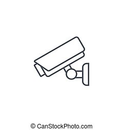 cctv, security digital camera, protection thin line icon. Linear vector symbol