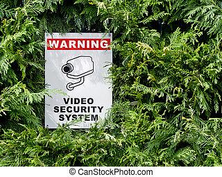 cctv, signboard
