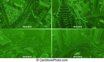 CCTV split screen
