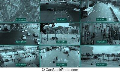 CCTV splitscreen
