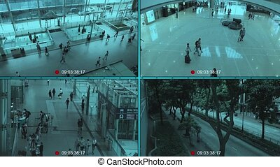 CCTV split screen