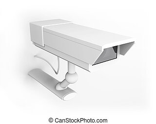 CCTV Surveillance Cam - 3D rendered Illustration.