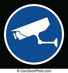 CCTV surveillance, sign