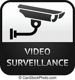 CCTV symbol, video surveillance, sign security camera -...