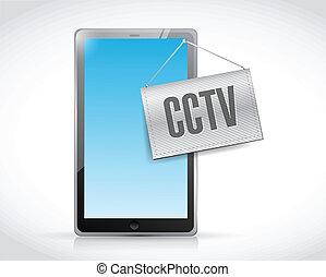 cctv tablet illustration design