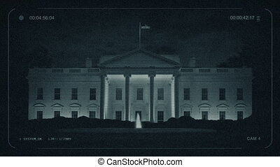 CCTV The White House At Night
