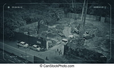 CCTV View Of Construction Site