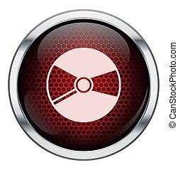 cd, 音楽, ハチの巣, 赤, アイコン