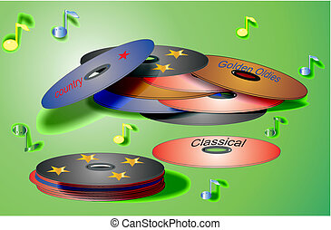 CD and DVD illustrations