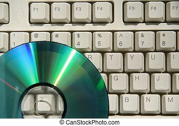 cd and keyboard