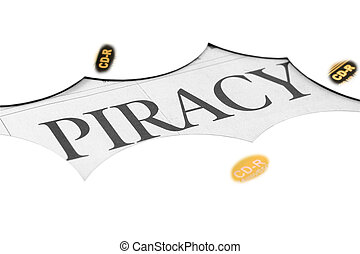 cd and word of piracy