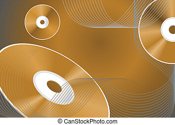 CD Background - Abstract background with CDs