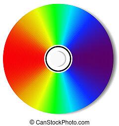 cd, blu, promień, dysk