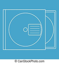 CD box icon, outline style