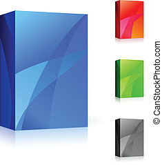 CD box of different colors. Illustration on white background...