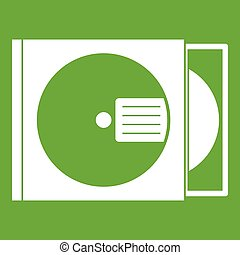 CD box with disc icon green
