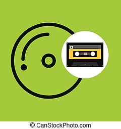 cd compact music cassette tape