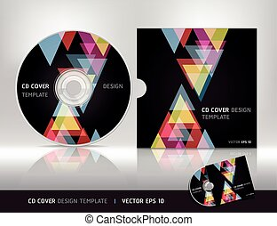 CD cover design template.