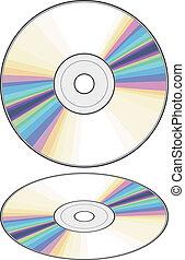 cd, disc), vetorial, (compact