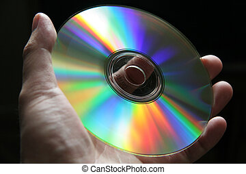 CD Disk with rainbow reflections
