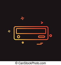 Cd drive icon design vector