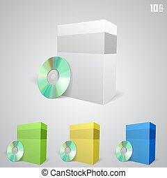 Cd drive with a box