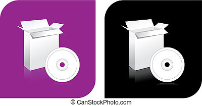 CD DVD and box icon