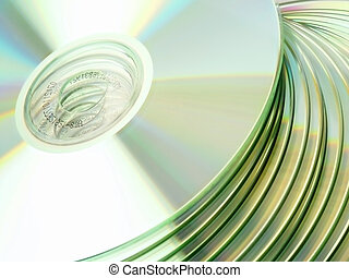 CD / DVD. Close-Up view.
