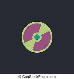 CD DVD computer symbol