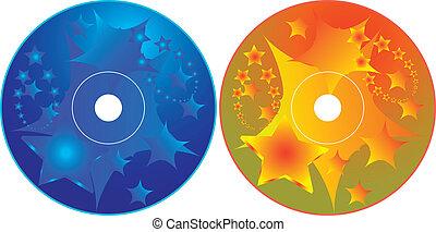 cd, -, dvd, etiket, ontwerp, mal