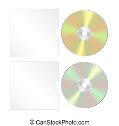 Cd, dvd isolated icon. Compact disc realistic set