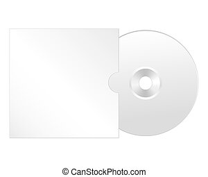 Cd, dvd isolated vector icon. Compact disc realistic element.