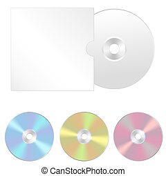 Cd, dvd isolated vector icon. Compact disc realistic sign