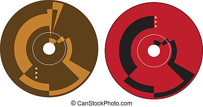Cd - Dvd Label Design Template Vector Art