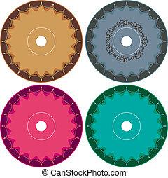 Cd - Dvd Label Design Template Vector Art