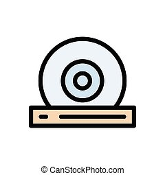 CD flat color icon
