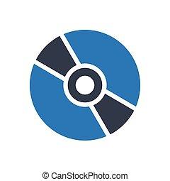 CD glyph color icon