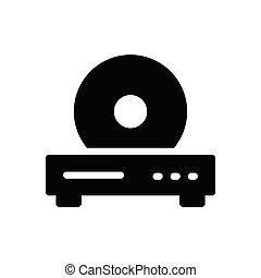 CD glyph flat icon