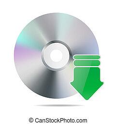 cd, icône flèche