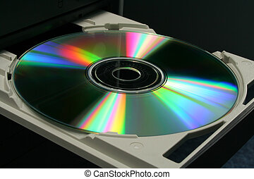 CD in Tray - DVD in computer CD-ROM tray
