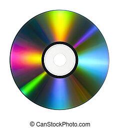 cd, met, kleurrijke, weerspiegelingen