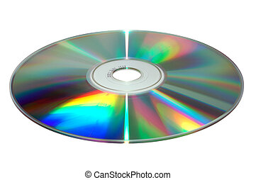 CD on white background
